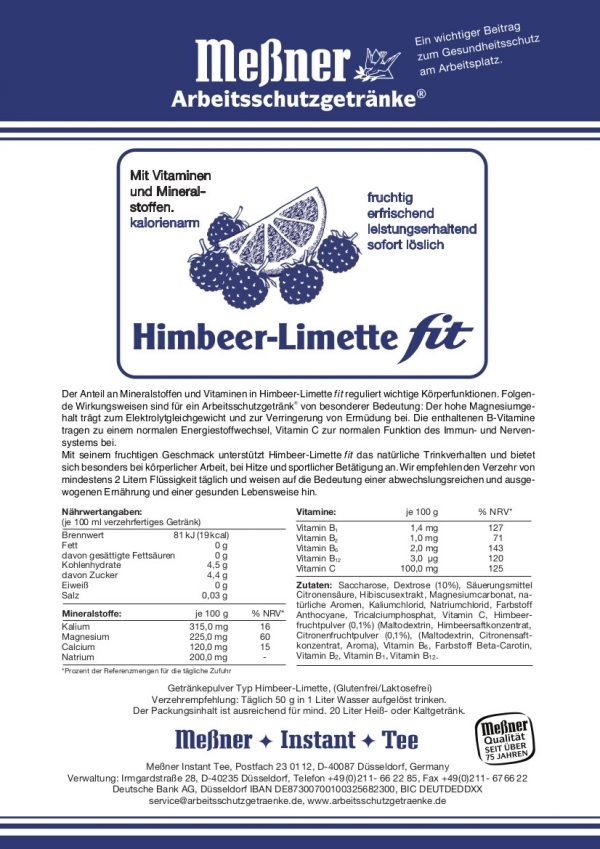 Himbeer Limette fit
